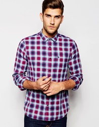 Jack Wills Shirt In Grape Flannel Check Grapemarine