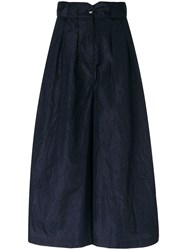 Dusan Cropped Flared Trousers Blue