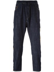 Palm Angels Slim Fit Cropped Jeans Blue