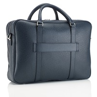 Mark Giusti Milano Doppio All Leather Laptop Bag Blue