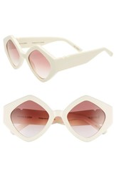 Pared Romeo And Juliet 52Mm Sunglasses Ivory Gradient Rose Lenses