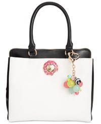 Betsey Johnson Triple Donut Satchel A Macy's Exclusive Style Cream