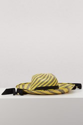 Sensi Studio Straw Hat With Ribbon Natural Black Yellow