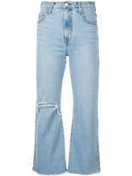 Nobody Denim Cropped Flare Jeans Blue