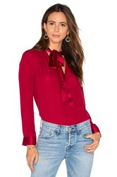 Alice Olivia Irma Neck Tie Blouse Red