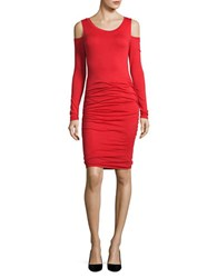 Velvet By Graham And Spencer Antonella Cold Shoulder Dress Red