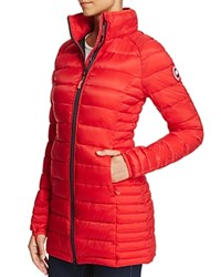 Canada Goose Brookvale Hooded Down Coat Red Black