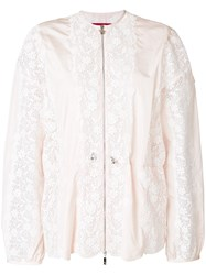 Moncler Gamme Rouge Broderie Anglaise Jacket Pink And Purple
