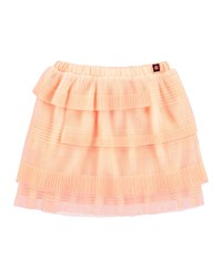 Molo Tiered Tulle Skirt Salmon Peach