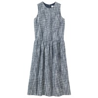 Toast Space Dyed Linen Dress Blue White
