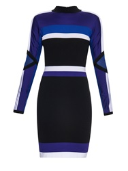 Versace Colour Block Long Sleeved Dress