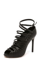 L.A.M.B. Bobbi Cage Sandals Black