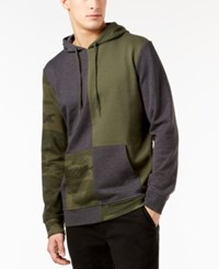 American Rag Men's Split Camo Hoodie Created For Macy's Green Earth