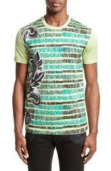 Versace Men's Collection Sketch Baroque T Shirt Mint