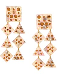 Lele Sadoughi Geometric Draped Earrings Pink
