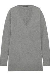 The Row Amherst Cashmere And Silk Blend Sweater Gray