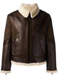 Neil Barrett Shearling Jacket Brown