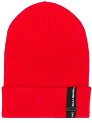 Daniele Alessandrini Rolled Beanie Red