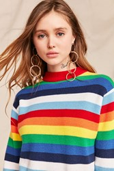Urban Renewal Vintage 70'S Rainbow Crew Neck Sweater Assorted