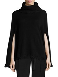 Halston Merino Wool And Cashmere Blend Sweater Black