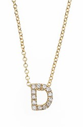 Bony Levy Women's Pave Diamond Initial Pendant Necklace Nordstrom Exclusive Yellow Gold D