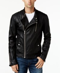 William Rast Men's Jax Moto Jacket Black