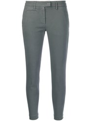 Dondup Cropped Skinny Trousers Grey