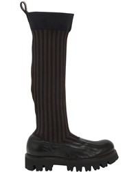 Rocco P. 30Mm Elastic And Leather Boots