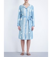 Melissa Odabash Fleur Shirt Dress Cornflower White