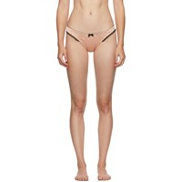 Agent Provocateur Pink And Black Felinda Briefs