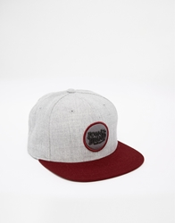 Icon Brand Patch Snapback Cap Grey