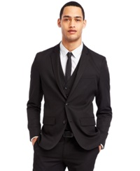 Kenneth Cole Reaction Black Two Button Blazer