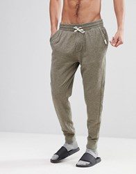 Abercrombie And Fitch Lounge Cuffed Joggers In Heather Olive Heather Olive Green