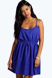 Boohoo Strappy Sundress Blue