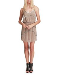 Walter Baker Destiny Sleeveless Blouson Dress Taupe