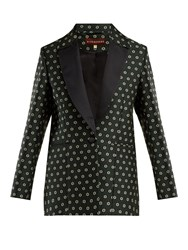 Alexachung Single Breasted Floral Jacquard Blazer Black Multi