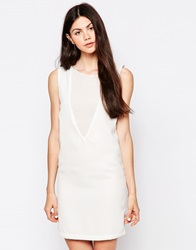 By Zoe By Zoe Sleeveless Shift Dress Ecru
