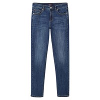 Mango Violeta By Straight Theresa Jeans Open Blue