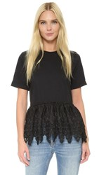 Endless Rose Lace Tee Black
