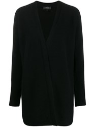 Theory Open Front Cashmere Cardigan Black