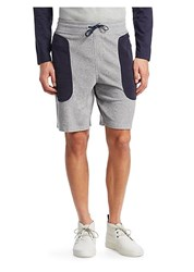 Madison Supply Colorblock Heather Terry Shorts Heather Grey