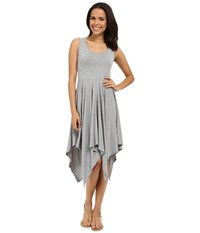 Mod O Doc Cotton Modal Spandex Jersey Hanky Hem Tank Dress Smoke Heather Women's Dress Gray