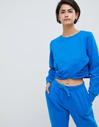 Asos Design Lounge Wrap Sweat Blue