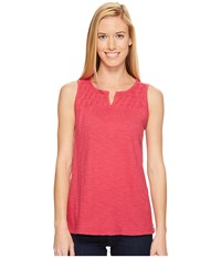 Woolrich Bell Canyon Eco Rich Tank Top Dragon Fruit Women's Sleeveless Red