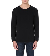 Tiger Of Sweden Raw Edge Cotton Sweatshirt Black