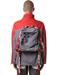 Off White Journey Nylon Anorak W Backpack Red