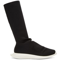 Rick Owens Drkshdw Black New Runner Sock High Sneakers