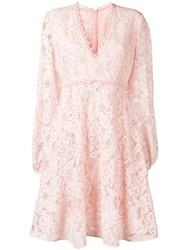 Giamba Floral Lace Dress Pink