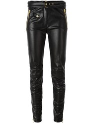 Moschino Imitation Leather Trousers Black