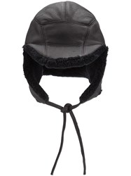 11 By Boris Bidjan Saberi Sheep Fur Hat Black